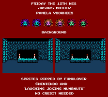 Friday the 13th NES Jason's Mother Sprite Sheet by FumuLover