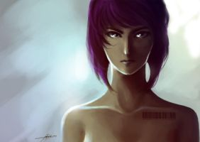 Motoko Kusanagi by microcastle