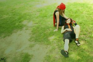 Rest - Yoh and Anna -  Shaman King by IkariNyan