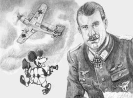 Adolf Galland by LittleFoxStudio