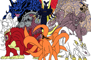 The Nine Tailed Beasts by Tails19950