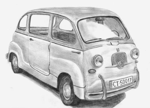 Old Fiat Multipla by M-J-M-A