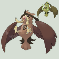 Fakemon Clocktowl by mssingno