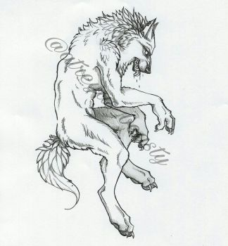 Werewolf Tattoo by starwolf303