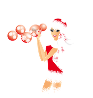 Chica con marco Navidad PNG by DesignsMay