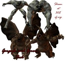 Gargoyle and Garou pack by WitsResources