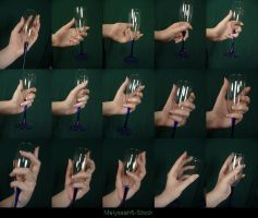Hand Pose - Champagne Glass by Melyssah6-Stock