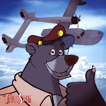 Baloo Thumbs Up Poster by PUFFINSTUDIOS