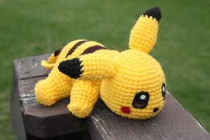 Pikachu Crochet Doll by rdekroon