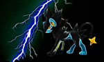 Luxray Wallpaper by PorkyMeansBusiness