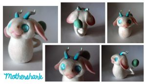 Needle felt forest spirit mini by Mothershark