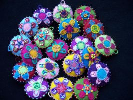 Felt charms MURRINE by FiloecoloridiIla