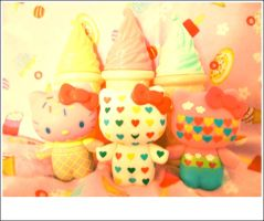 hello kitty and ice cream by kawainess