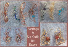 Earrings and Ear Cuffs for Renee - Trade by balthasarcraft