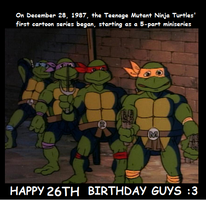 if the turtles were 15 in 1987 they would be 41! by TMNTFAN85