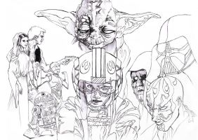 Starwars tribute raw pencils by mumitrold