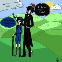 Black Butler in Adventure Time by BlackWolfQueen