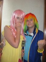 Rainbow Dash and Fluttershy by Witts-End
