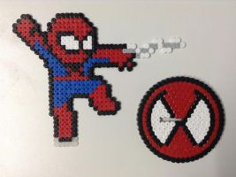 Spider-Man Hama and Base by Dogtorwho
