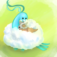 Altaria and Cubone by Joltik92