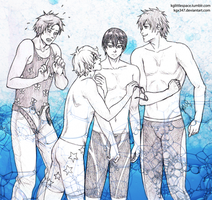 Free! Let's swim together by KGX347