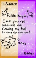 To Puddle-Pumpkin  X3 by chubby-choco