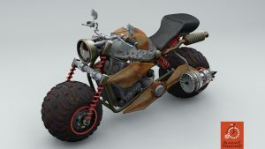 Post Apocalypse Courier Bike with a hint of steamp by Kurczak