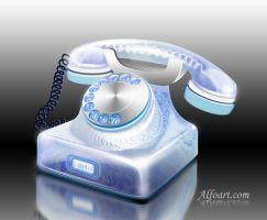 Retro Phone photoshop tutorial by AlexandraF