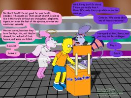 Fighting over Bart and the Last Butterfinger by KBAFourthtime