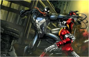 Venom versus Colossus by Marvelfans