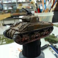 glued and painted a sherman.fun hobby (clear view) by HanaYean