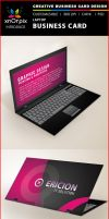 Laptop Business Card by xnOrpix