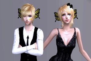 VOCALOID sims. Kagamine Magnet by NegativeDanna