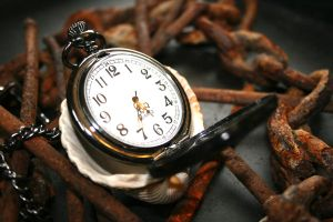 Pocket watch in chains by frosty456