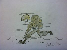 Running soldier by zxcvsaw