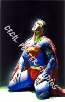 Superman painting by tat2istcecil