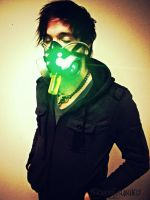 Bioenhancer Cyberpunk LED gas mask by TwoHornsUnited
