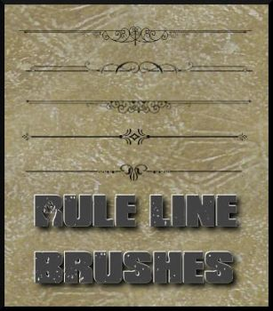 Rule Line Brushes by ajsk84life