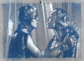 Batman and Catwoman - Pencil Study by JeffLafferty