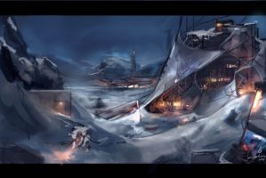 Snow Fort by Travis-Anderson
