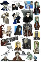 Skulduggery Pleasant Doodles in Colour by Expression
