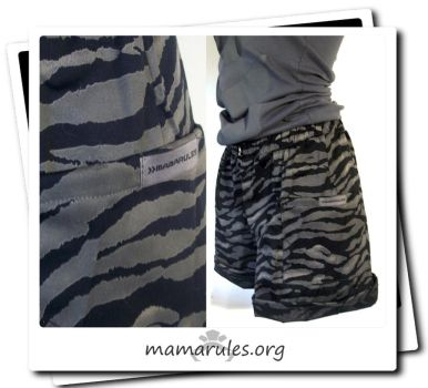 MAMARULES s+S 2012 -  TIGER SHORTS by mamarules
