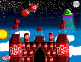 Dr pepper castle by PananaBanana