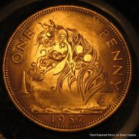 Hand Engraved Penny Ornate Horse by shaun750