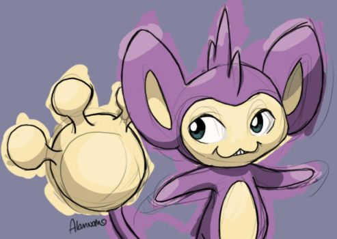 Aipom by skeletall