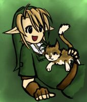 Link Loves Cats by JustynaKurbiel