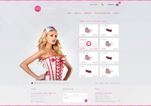 Fit 'n Sexy Pharmacy / Web by eMCepa