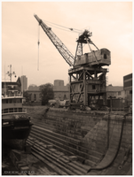 crane at dry dock one by CapnSkusting