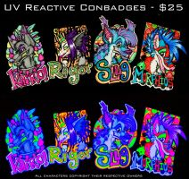 Photo - UV Reactive Conbadges by misako