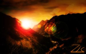 Sunset in the alps by zic-brothers